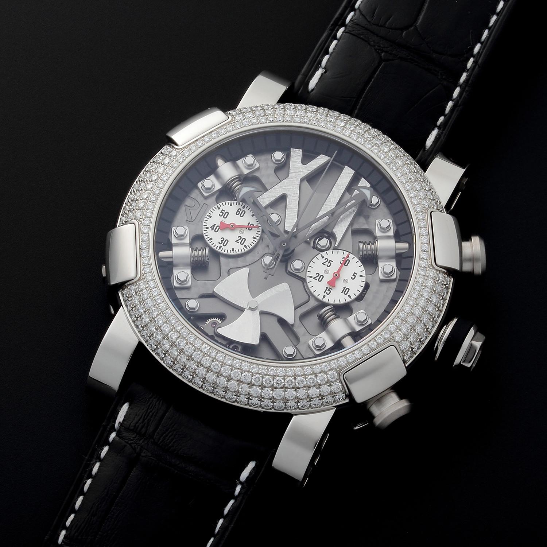 Romain jerome titanic dna chronograph automatic rj t ch for Jerome girard