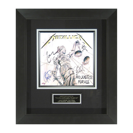 Metallica // And Justice For All // Band Signed
