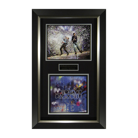 Coldplay // Paradise // Band Signed