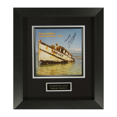 Jimmy Buffett // Living And Dying In 3/4 Time // Autographed