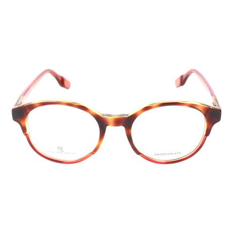 Thick Top Rim Circular Frame // Tortoise + Orange