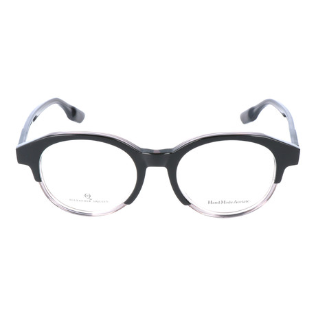 Thick Top Rim Round Frame // Black + Clear