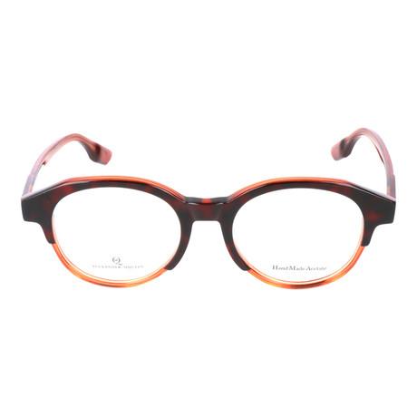 Thick Top Rim Round Frame // Tortoise + Orange