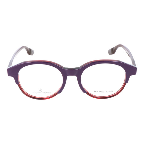 Thick Top Rim Round Frame // Violet + Red