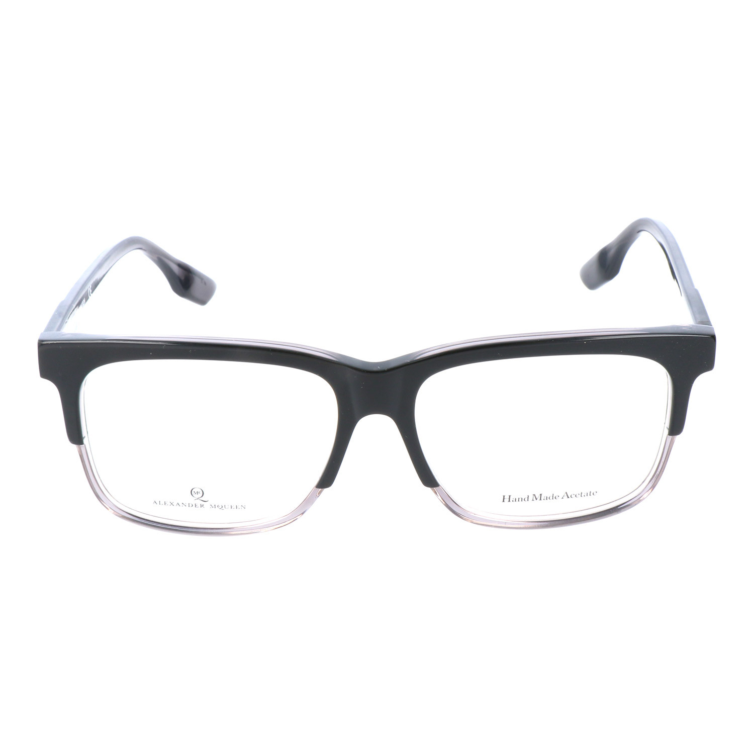 Thick Top Rim Rectangle Frame // Black + Grey - MCQ by Alexander ...