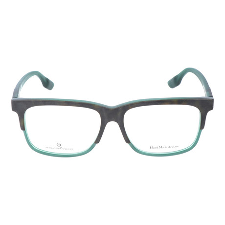 Thick Top Rim Rectangle Frame // Black + Green