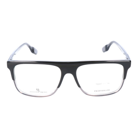 Straight Brow Thick Top Rectangle Frame // Black + Clear