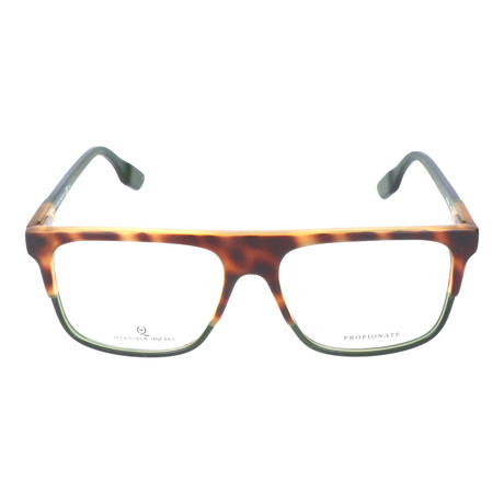 Straight Brow Thick Top Rectangle Frame // Tortoise + Army
