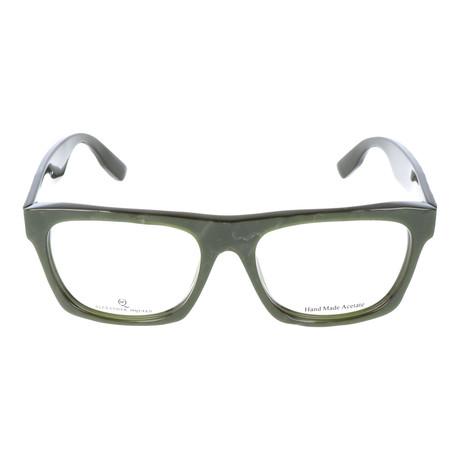 Irregular Surface Thick Rim Wayfarer // Dark Green