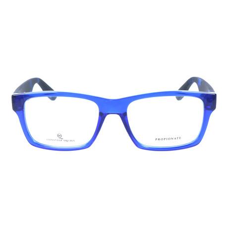 Rectangular Thick Rim Wayfarer // Blue + Black