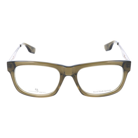 Thick Rim Rectangle Metal Sided Wayfarer // Green