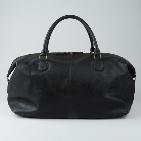Gunner Vegan Leather Duffle Bag // Black