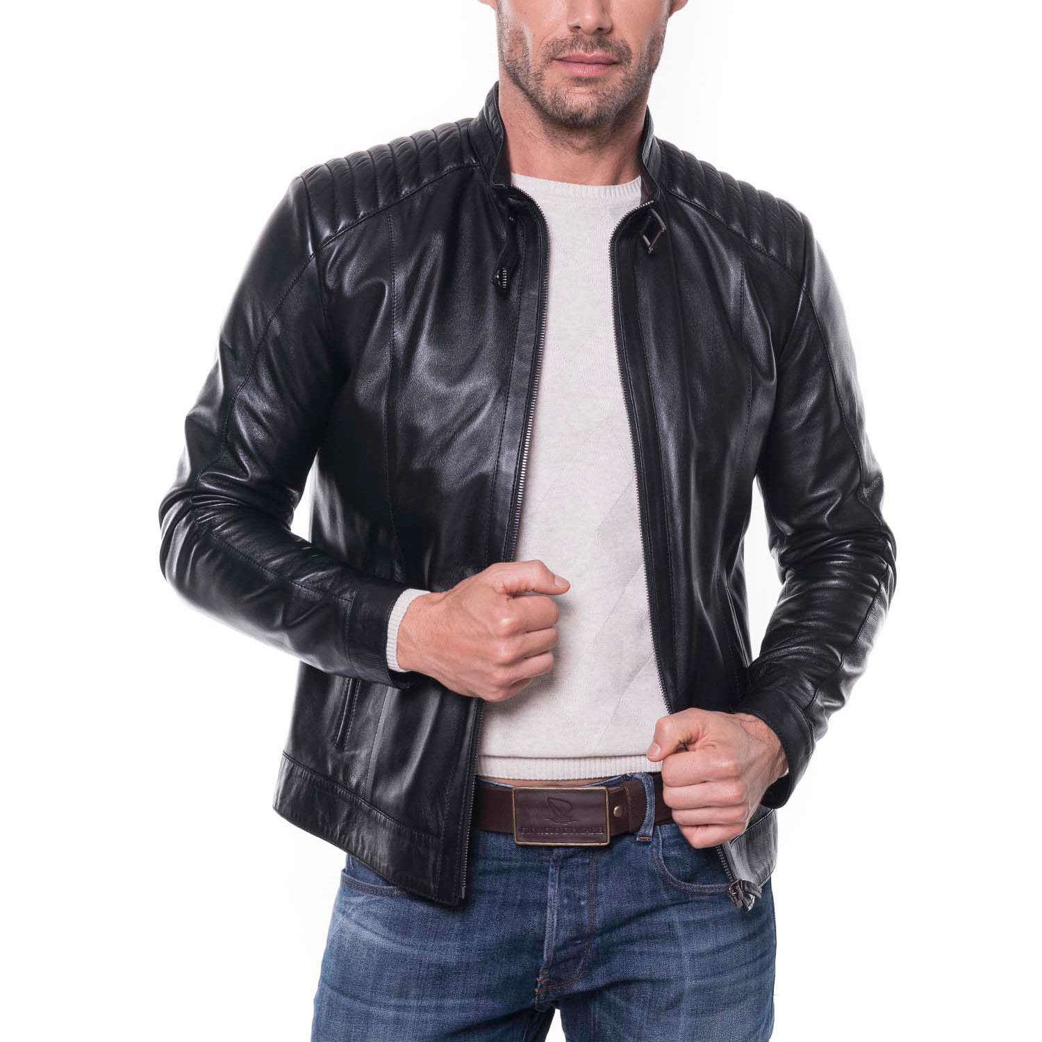 20148fb5d Honaz Leather Jacket // Black (3XL) - Giorgio di Mare - Touch of Modern