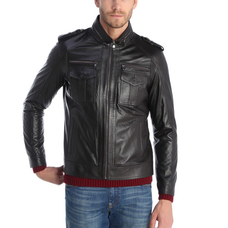 Eruh Leather Jacket // Brown