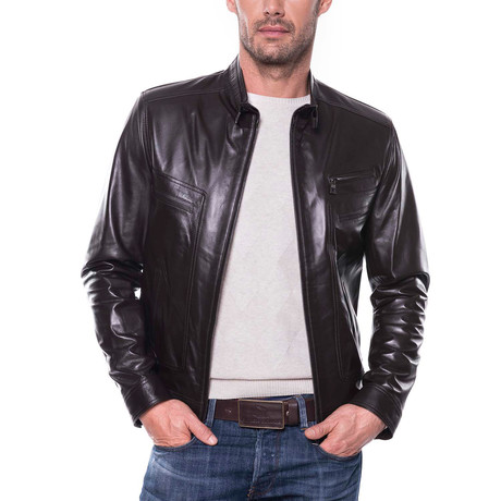 Altınova Leather Jacket // Brown