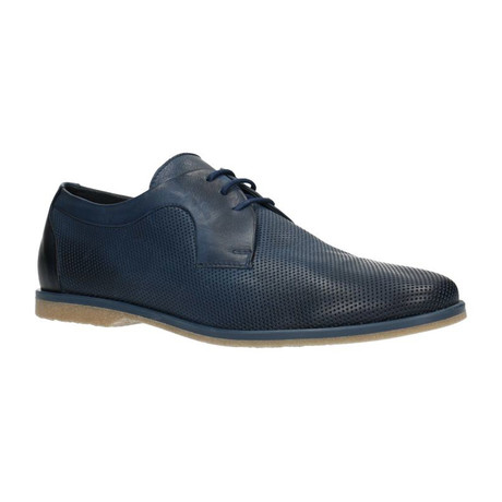 Perforated Lace-Up Derby // Navy