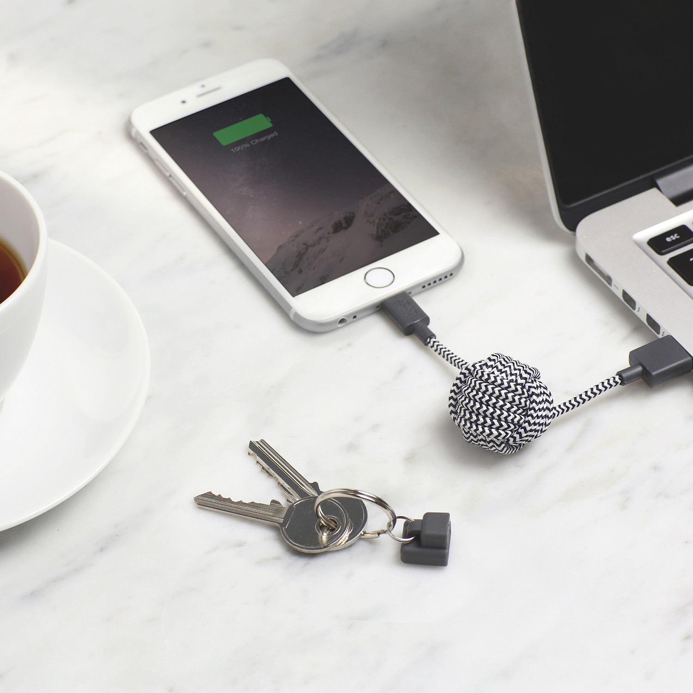 key cable lightning zebra native union touch of modern. Black Bedroom Furniture Sets. Home Design Ideas