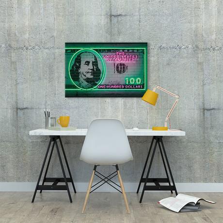 """100 Dollars // Octavian Mielu (40""""W x 26""""H x 1.5""""D)"""