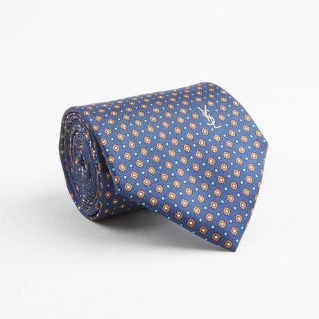 Floral Dot Silk Tie // Navy