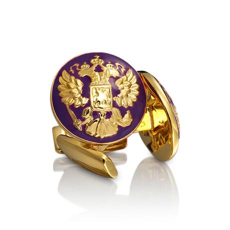 The Double Eagle Gold Cufflinks // Palatine Purple