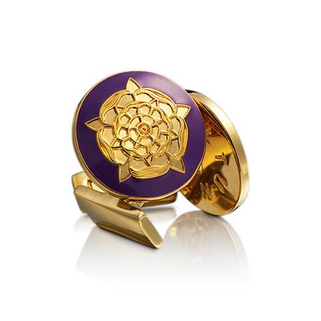 The Tudor Rose Gold Cufflinks // Palatine Purple