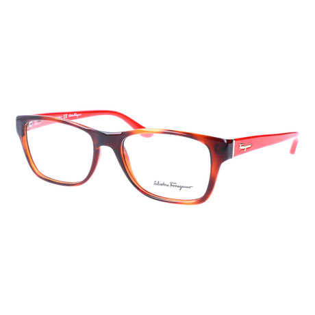 Unisex SF2687 Optical Frames // Havana + Red Wood