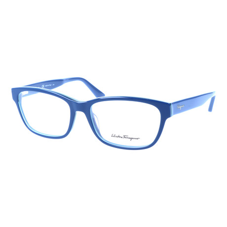 Salvatore Ferragamo // Men's Ivan Optical Frames // Blue + Navy