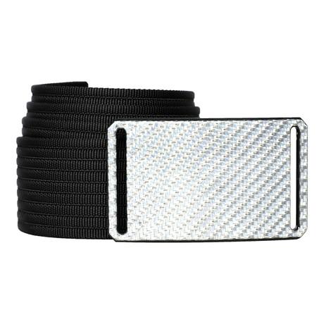 Silverglass Buckle + Black Belt