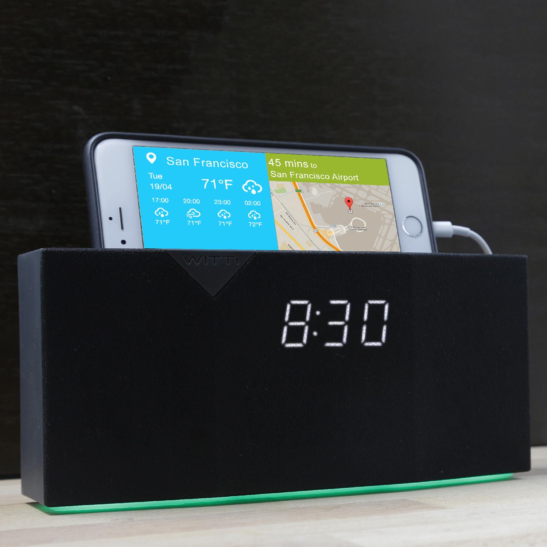 Beddi intelligent alarm clock black clearance tech for Touch of modern clock