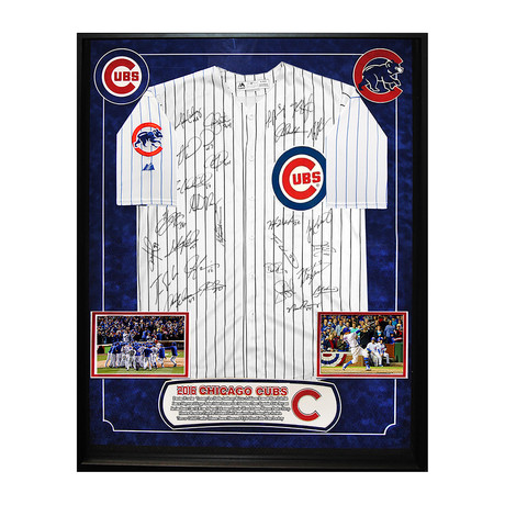 Signed Jersey // Cubs 2016 Team