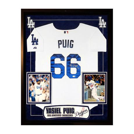 Signed Jersey // Dodgers Yasiel Puig
