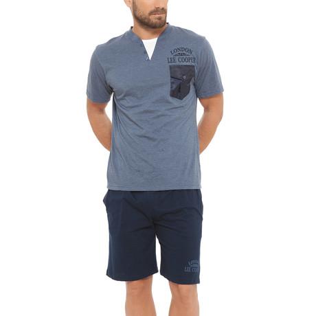 Notch Jersey Tee + Short Set // Jeans + Dark Blue