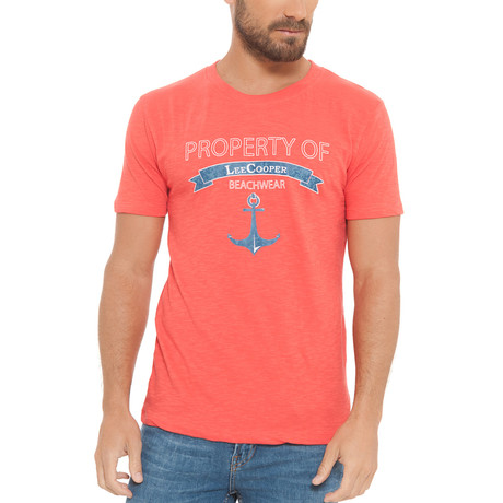 Property Slub Short Sleeve T-Shirt // Watermelon