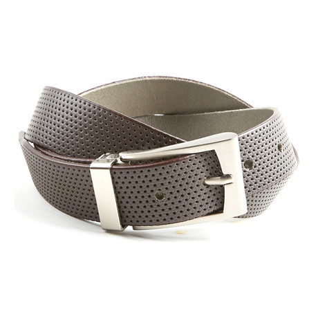 Perforated Belt // Grey