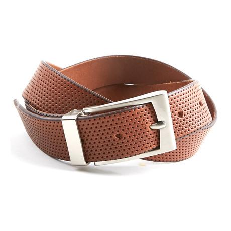 Perforated Belt // Cognac