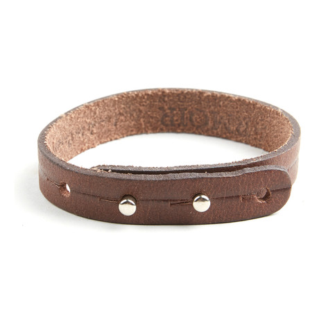 Don Adjustable Bracelet // Brown