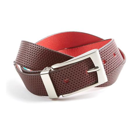 Perforated Belt // Merlot