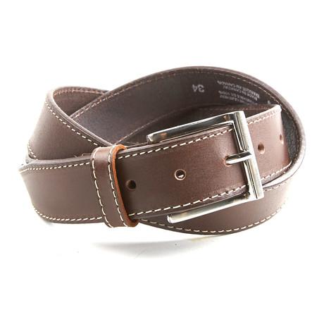 Stitched Belt // Brown