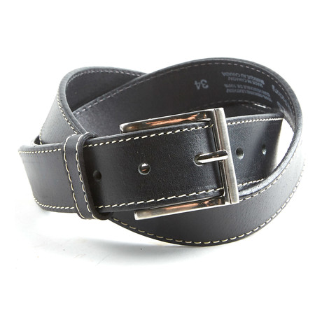 Stitched Belt // Black