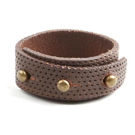 Recess Perforated Bracelet // Brown