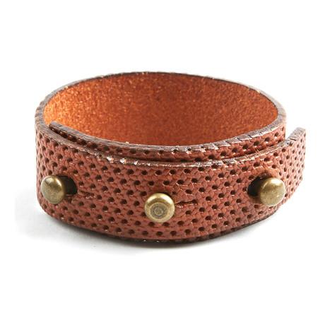 Recess Perforated Bracelet // Cognac