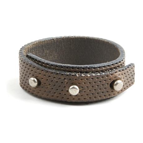 Recess Perforated Bracelet // Grey