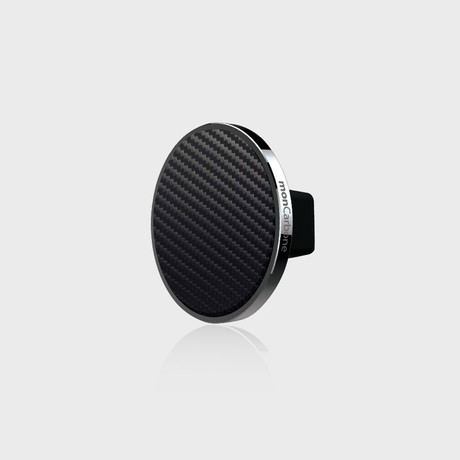 JustClick Magnetic Car Mount // Gunmetal + Carbon Fiber (Single Mount)