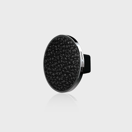 JustClick Magnetic Car Mount // Black Napa Leather (Single Mount)