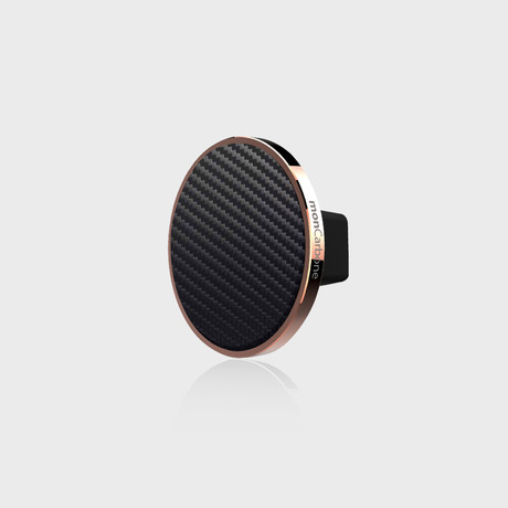JustClick Magnetic Car Mount // Rose Gold + Carbon Fiber (Single Mount)
