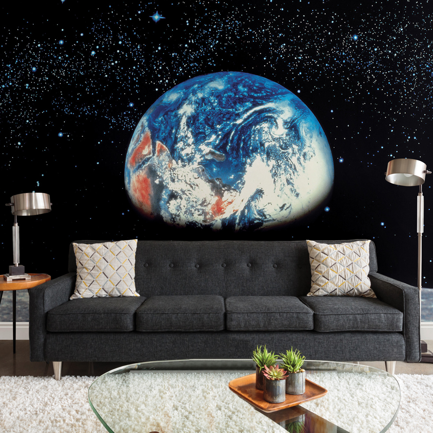 Earth moon wall mural brewster home fashions touch of for Brewster birch wall mural