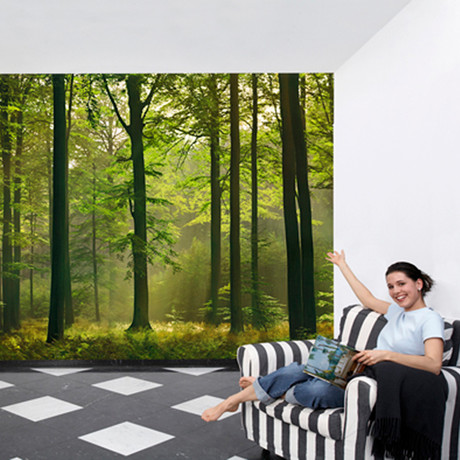 "Autumn Forest Wall Mural (100""W x 144""H)"