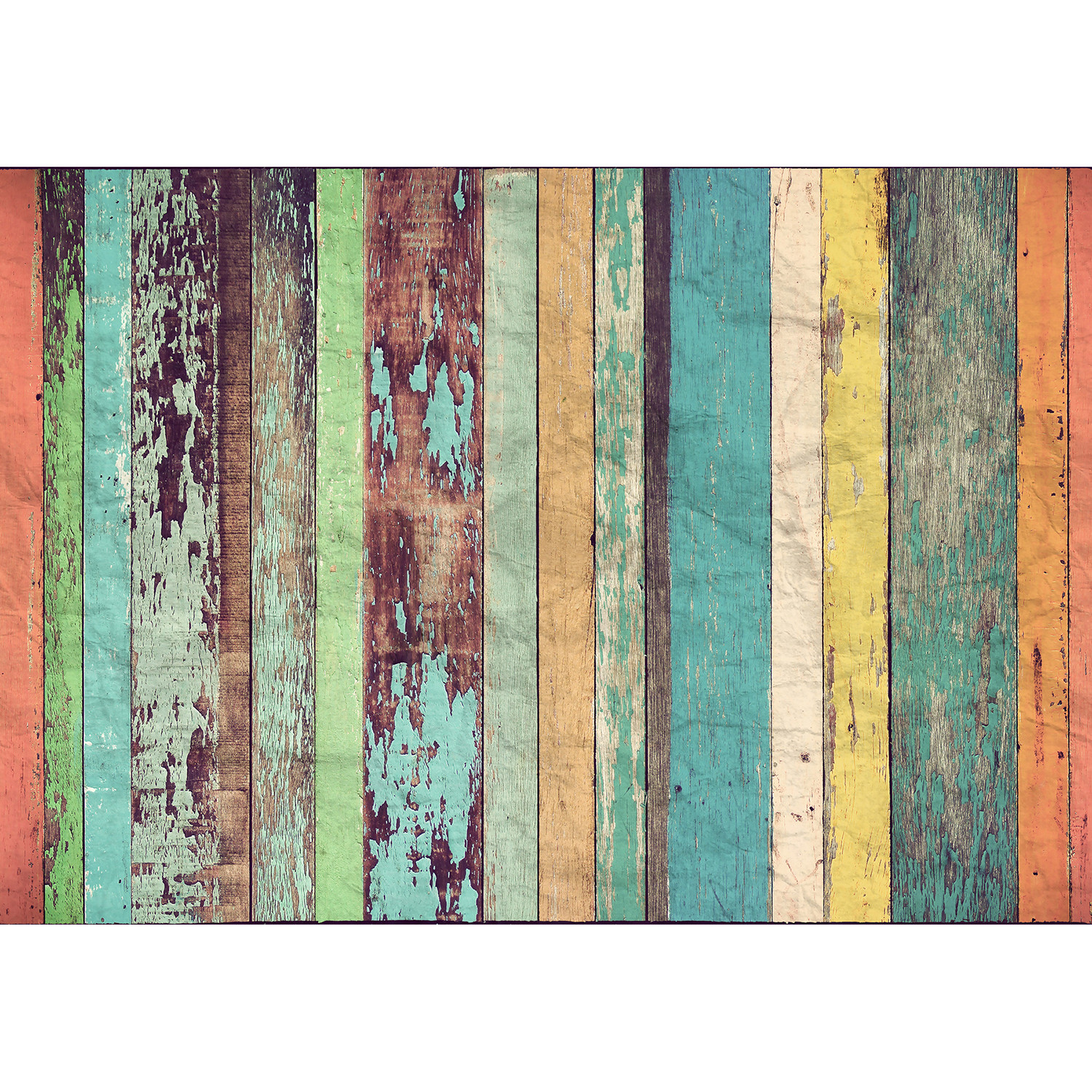 Colored wood wall mural brewster home fashions touch for Brewster wallcovering wood panels mural
