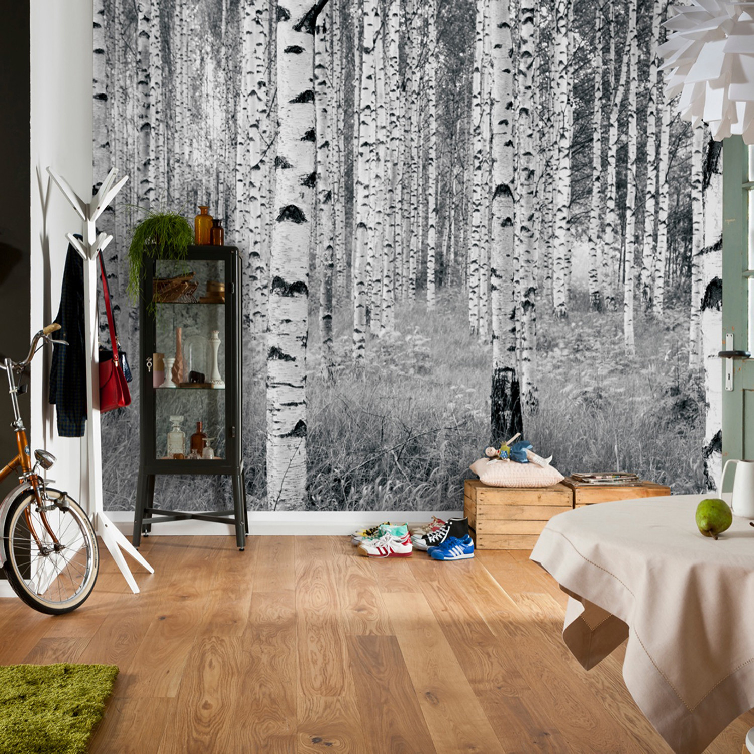 Birch forest wall mural brewster home fashions touch for Brewster birch wall mural