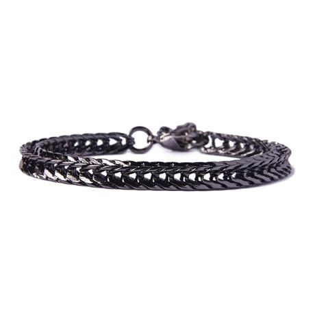 Gunmetal Chain Bracelet For Men